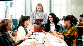 No Merchandising. Editorial Use Only. No Book Cover Usage Mandatory Credit: Photo by Snap Stills/REX/Shutterstock (1931625a) Kim Walker, Winona Ryder Heathers - 1989